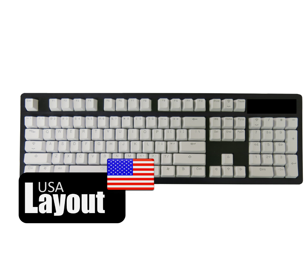 Tai-Hao PBT Backlit Double Shot Keycaps Pure White USA